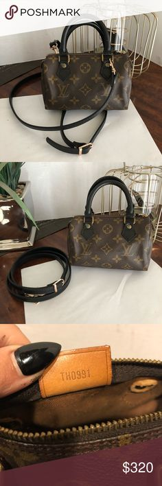 39902120d3 This is a true gem Louis Vuitton speedy mini also known as the nano The  mini is rare and beautiful Monogram leather in good condition no cracks ...