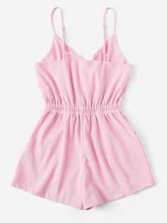 Shop Button Detail Cami Playsuit at ROMWE, discover more fashion styles online. Girls Fashion Clothes, Summer Fashion Outfits, Cute Comfy Outfits, Girly Outfits, Look Fashion, Girl Fashion, Gothic Fashion, Steampunk Clothing, Renaissance Clothing