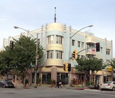 Here is a great Art Deco building in Long Beach CA located at 505 Broadway I believe it was built in 1927