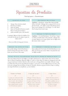 Liste sous forme de guide de recettes faciles et rapides pour fabriquer soi-même ses produits d'entretien