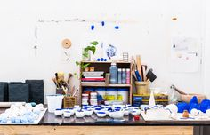 Details from the Sydney studio of ceramic artist Alex Standen. Photo – Nikki To for The Design Files.