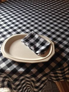 Black And White Table Cloth By LuxuryLinenLoft On Etsy