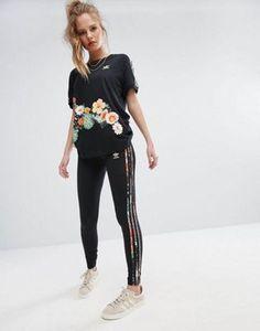 adidas Originals X Farm Jardim T-Shirt & Leggings Set