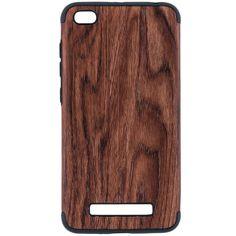 Husa Xiaomi Redmi 4a TPU Wood Texture - Maro