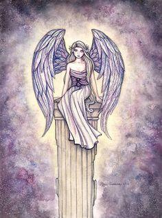 """""""""""Angel's Perch"""" Angel Art by Molly Harrison"""" by Molly Harrison   Redbubble"""