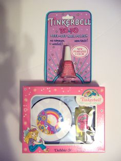 TINKERBELL PLAY COSMETICS! Or, Tinkerbell play make-up! Whatever it was called! It was what all of us little girls wanted. There wa...