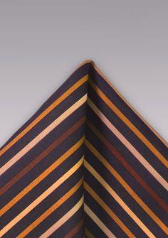 Einstecktuch Mikrofaser schwarz orange