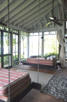 Beach house enclosed porch!! Paint all white