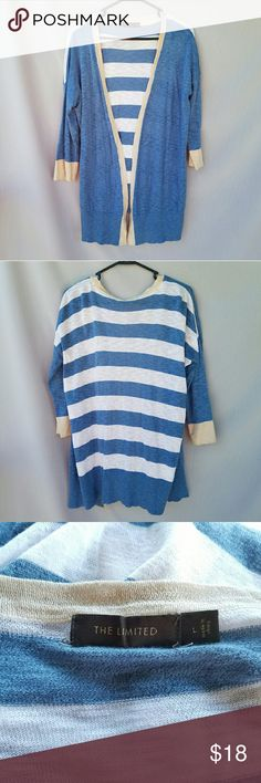 The Limited Striped Cardigan Cute stripes on back. Excellent condition  Feel free to ask me any additional questions! 3+ bundles 15% off. Happy Poshing! The Limited Sweaters Cardigans