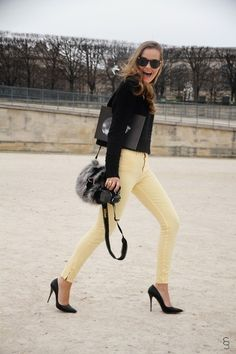 Outfit PFW day4 - yellow pants | Mia Marionette <3 Fashion Style