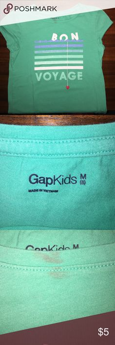 """Girls Gap Kids tee (0023) Girls Gap Kids tee (0023) - has a mark at the neck, a left over from a """"makeover party"""".... that was fun. Gap Kids Shirts & Tops Tees - Short Sleeve"""