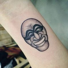 Traditional Korean Mask tattoo Hahoe mask. Tattoo artist: Doy