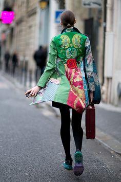 Неделя моды в Париже, осень-зима 2016: street style. Часть 1 (фото 21)