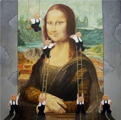Mona Lisa and painters - by David Smith, via Pinzellades al món blog  (3/18/15)