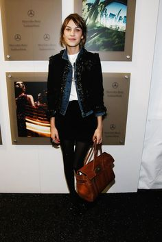 Alexa Chung Photos - Mercedes-Benz Presents Fashion Week Spring 2010 People & Atmosphere - Day 2 - Zimbio