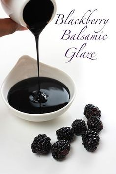 Blackberry Balsamic Glaze is part of Blackberry recipes This Blackberry Balsamic Glaze is rich, smooth and creamy, lightly sweetened with maple syrup and loaded with plump juicy blackberries Delic - Salsa Dulce, Balsamic Glaze, Balsamic Vinegar, Sauces, Canning Recipes, Snack, Mayonnaise, Sauce Recipes, Tapas