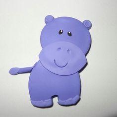 Hipopótamo hecho en Masa Flexible. Animales de la Selva. Jungle Friends Polymer Clay