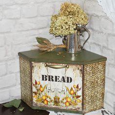 Купить Хлебница угловая - оливковый, зеленый цвет, лимон, кухня, кухонный интерьер, кухонные принадлежности