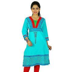 Bollywood Kurta Indische Designer Ethnischen Kurti Baumwolle Top Tunika-Kl 9196