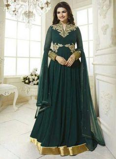 Prachi Desai Green Embroidery Thread Resham Work Designer Anarkali Salwar Kameez  http://www.angelnx.com/Salwar-Kameez/Bollywood-Salwar