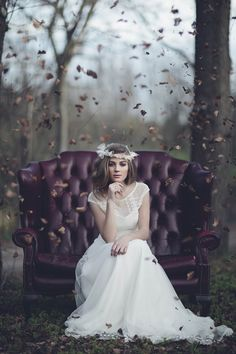 Sesion promocional del cartel de Love Story Vintage Wedding Fair.
