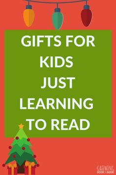 What are the best gifts to give to new readers?  Find out what a reading specialist recommends! #beginningreaders #giftsforkids #literacy #GrowingBookbyBook