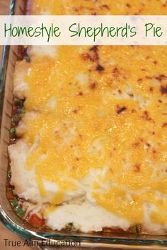Easy Homestyle Shepherd's Pie Recipe, really cheap to make, great freezer meal!
