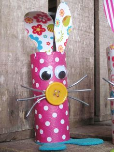 activité manuelle récup enfant lapin Pâques