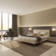 Moderne slaapkamers *for the bed light Modern Luxury Bedroom, Luxury Bedroom Design, Bedroom Furniture Design, Home Room Design, Master Bedroom Design, Contemporary Bedroom, Luxurious Bedrooms, Bedroom False Ceiling Design, Master Bedroom Interior