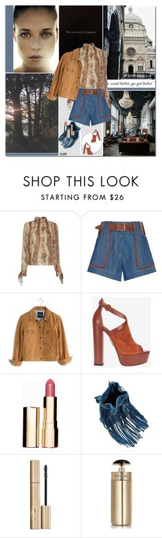 """""""Du sombre au clair"""" by cybelfee ❤ liked on Polyvore featuring Exclusive for Intermix, 10 Crosby Derek Lam, Madewell, Aquazzura, Clarins, Stila and Prada"""