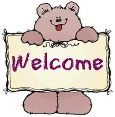 Teddy Bear With Welcome Banner Image  #Allquotes #Welcome! #welcome #Quotes #Cards # #WelcomeImage #YouAreWelcome Welcome