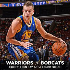 IT'S GAME DAY!!! The #Warriors close out their three-game road trip today against the Charlotte Bobcats, and a win today would improve the Dubs to .500 on the road this season.