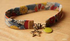 bracelet liberty, pastille colorée, fermoi aimanté. Bijoux Miniloop