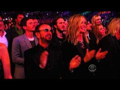"""Daft Punk, Pharrell Williams & Stevie Wonder performing """"Get Lucky"""" at The Grammy's 2014 HD - YouTube"""