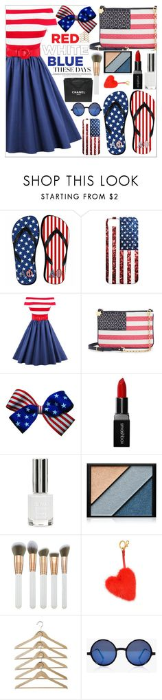 """""""happy 4th july"""" by juhibeiber ❤ liked on Polyvore featuring Draper James, Smashbox, Topshop, Elizabeth Arden, Spectrum, Anya Hindmarch, Chanel and Boohoo"""