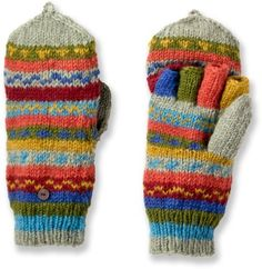 mittens w/ fingers are cute, practical AND warm...