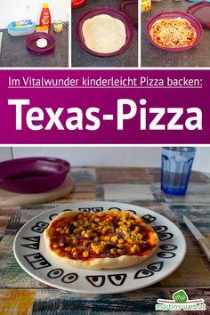 Texas-Pizza im Vitalwunder? Tupperware, Omelette, Oatmeal, Texas, Breakfast, Food, Pizza Bake, Microwave, Food Food