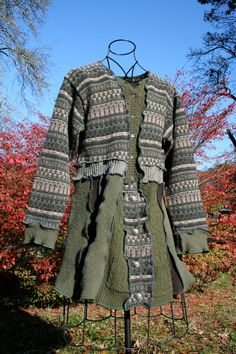 Upcycled Sweater Coat/Dress by UpcycledSweaters on Etsy, $185.00
