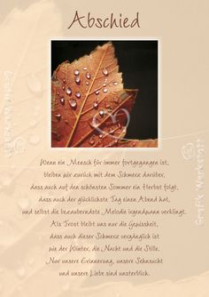 Abschied - Doppelkarte - Grafik Werkstatt Bielefeld Bye Quotes, Words Quotes, Sayings, Mourning Quotes, Funeral Cards, Quotation Marks, Losing Friends, Condolences, Grief