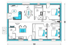 House Layout Plans, My House Plans, House Layouts, Habitats, Floor Plans, Flooring, How To Plan, Architecture, Voici