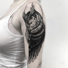 "O estilo ""Blackwork"" na tatuagem brasileira Tatto Drawings – Top Fashion Tattoos Owl Feather Tattoos, Eagle Wing Tattoos, Skull Tattoo Flowers, Animal Tattoos, Tattoo Designs, Owl Tattoo Design, Top Tattoos, Tattoos For Guys, Tattos"