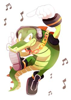 Vector the Crocodile needs more love yo! Sonic 3, Sonic Fan Art, Hedgehog Art, Sonic The Hedgehog, Sonic The Movie, I Love The World, Sonic Franchise, Pin Art, Archie Comics