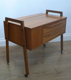 Mid-Century Danish Moveable Craft Table