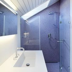Basement bathroom on pinterest wet rooms saunas and for Limited space bathroom ideas