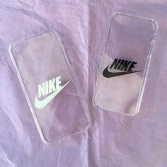 Transparent NIKE logo phone cases white & black