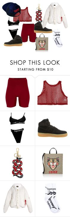 """mannequinxo x baby you my everything .. va$htie"" by xxxthebombshellfactoryxxx ❤ liked on Polyvore featuring NIKE, Gucci and Vetements"