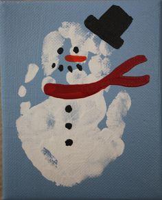 Christmas handprint snowman