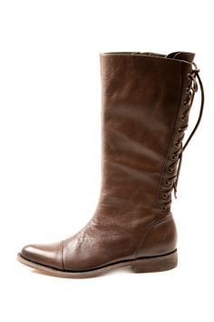 Shoptiques — Leather Laced Kacy Boot