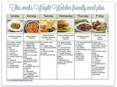 weight watcher friendly meal plan with smart points 4 with