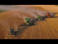 Video: Stunning footage of a US wheat harvest you need to see... LaRosh Wheat Harvest 2015. Beautifully filmed and edited. Watch the big guns harvest your food.